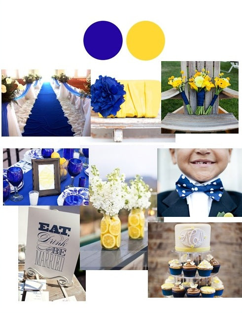 Color Stories: Cobalt and Yellow Wedding