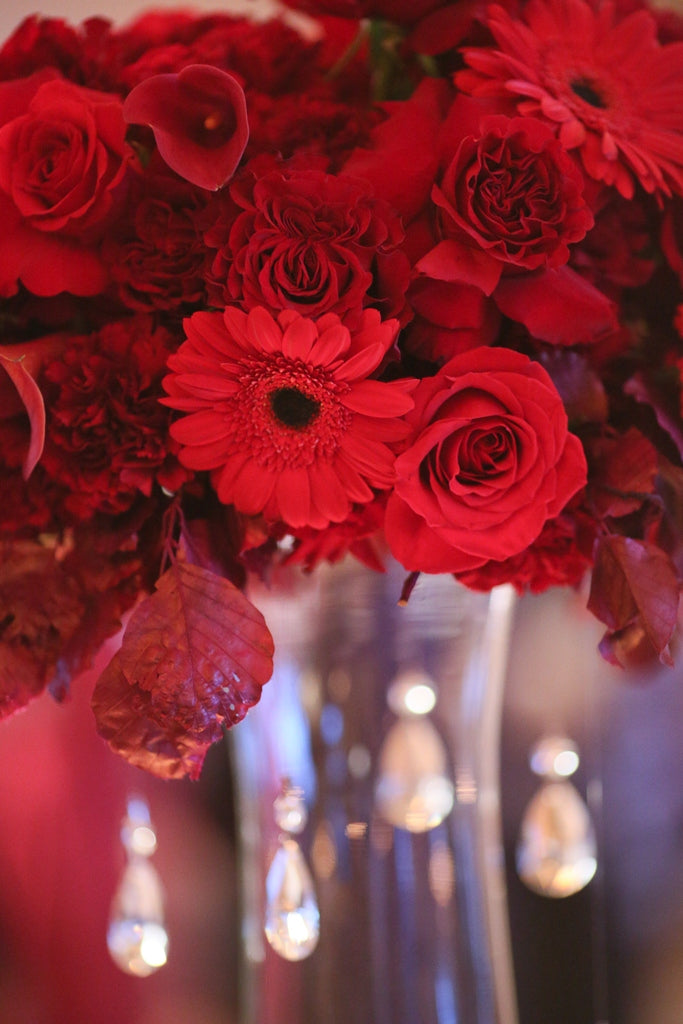 Wedding Florist Rochester NY | Wedding Wednesday | Luscious Red Wedding
