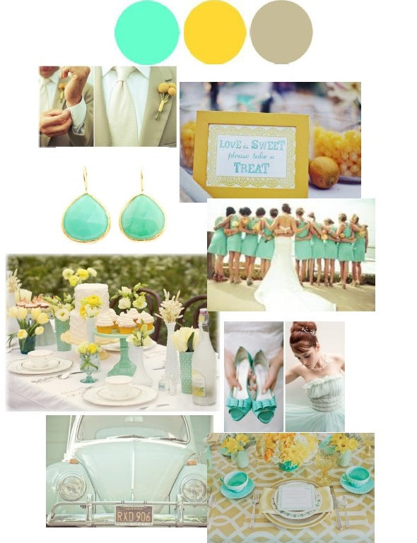 Wedding Color Palette: Mint, Lemon, and Taupe
