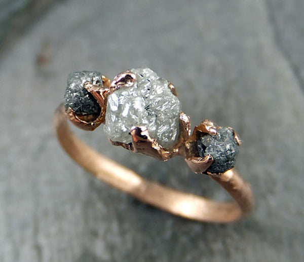 Raw Diamond Rings by Etsy Seller Angeline