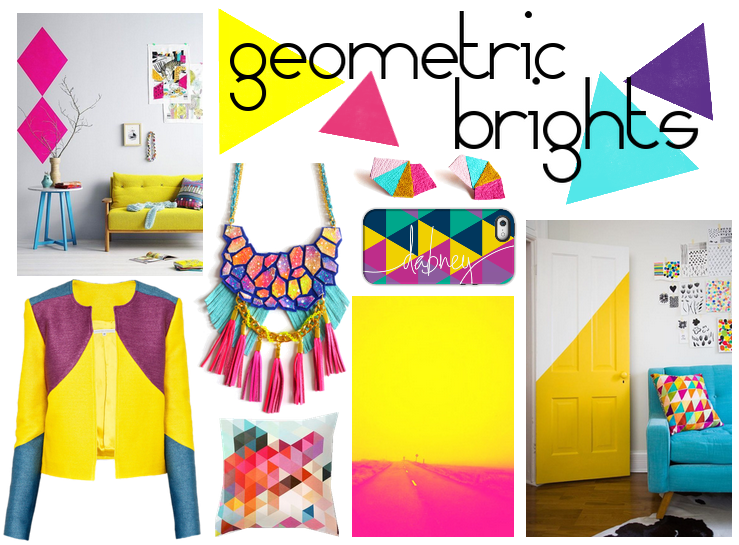 Bright Geometric Patterns Color Palette Inspiration