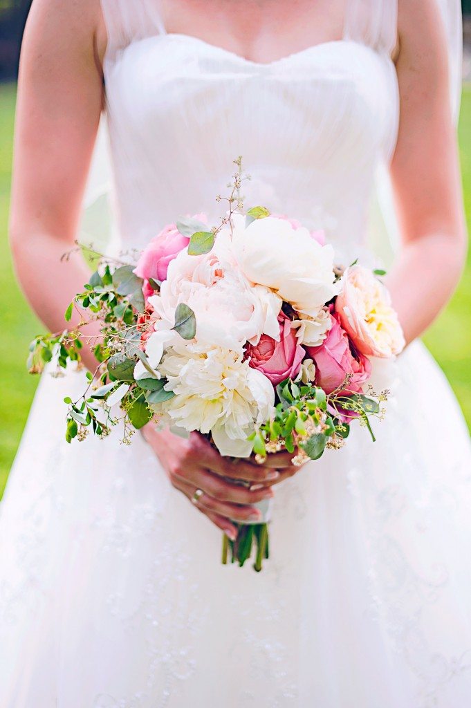 Pink and Grey Wedding | Belhurst Castle | Spring Wedding Flowers