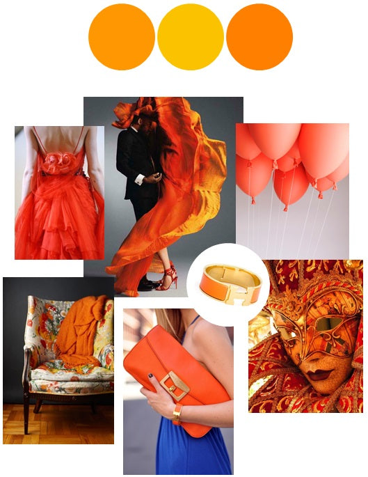 Tangerine Orange Color Story | Palette Inspiration Board