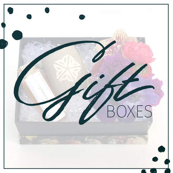 gift boxes with flowers