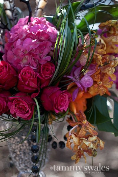 tall pink and orange centerpiece 2