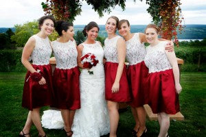 Winery Weddings, fingerlakes wedding florist, tom mike photographer, burgundy and cream wedding