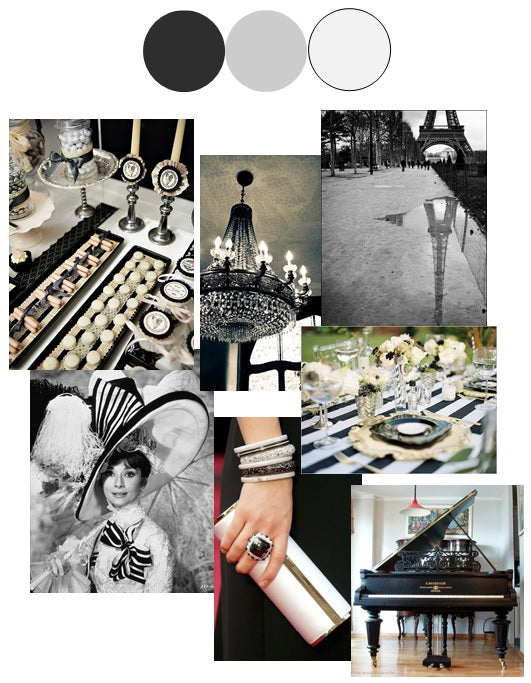 Black and White | Color Story | Inspiration Board by Stacy K Floral