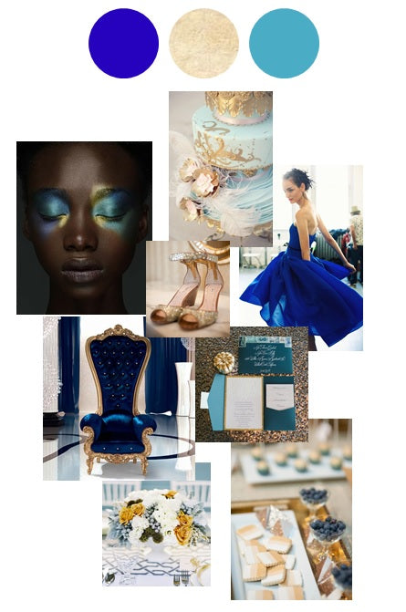blue and gold pantone, color story, inspiration, color, blue wedding, gold wedding, blue event, gold event, rochester ny florist, amy cakes, miu miu shoes, jason wu, jamie beck, caspani tino furniture, courtney talbot, delbarr moradi, jl designs, blue rose pictures