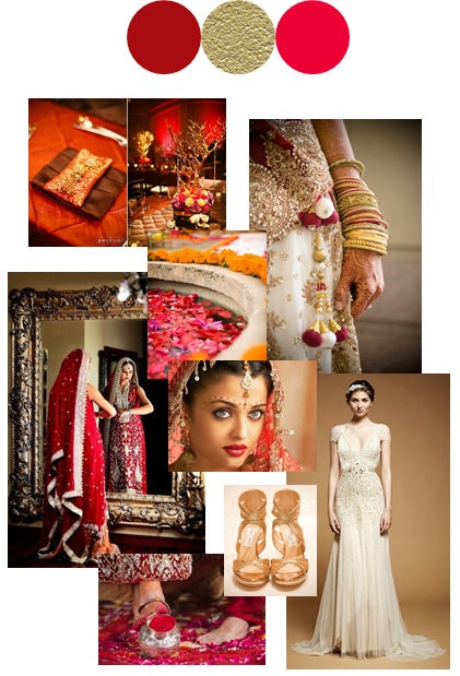 Indian wedding, bollywood, red and gold, color stories, wedding inspiration, mandap, mehndi, henna