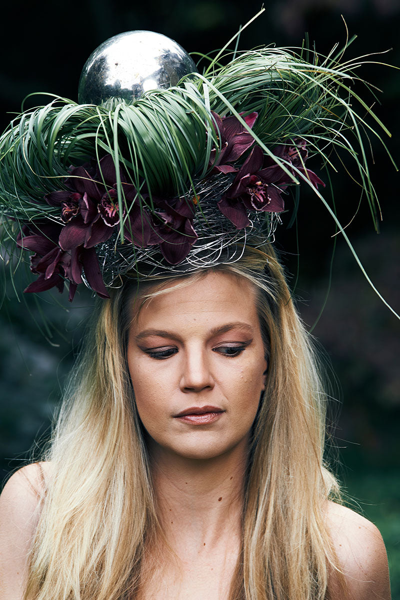 Photo shoot of head pieces provided by Stacey K Foral, Rochester, NY. In this photo, model Sarah Kirchoff. (Photo by Brandon Vick Photography LLC http://brandonvickphotography.com/)