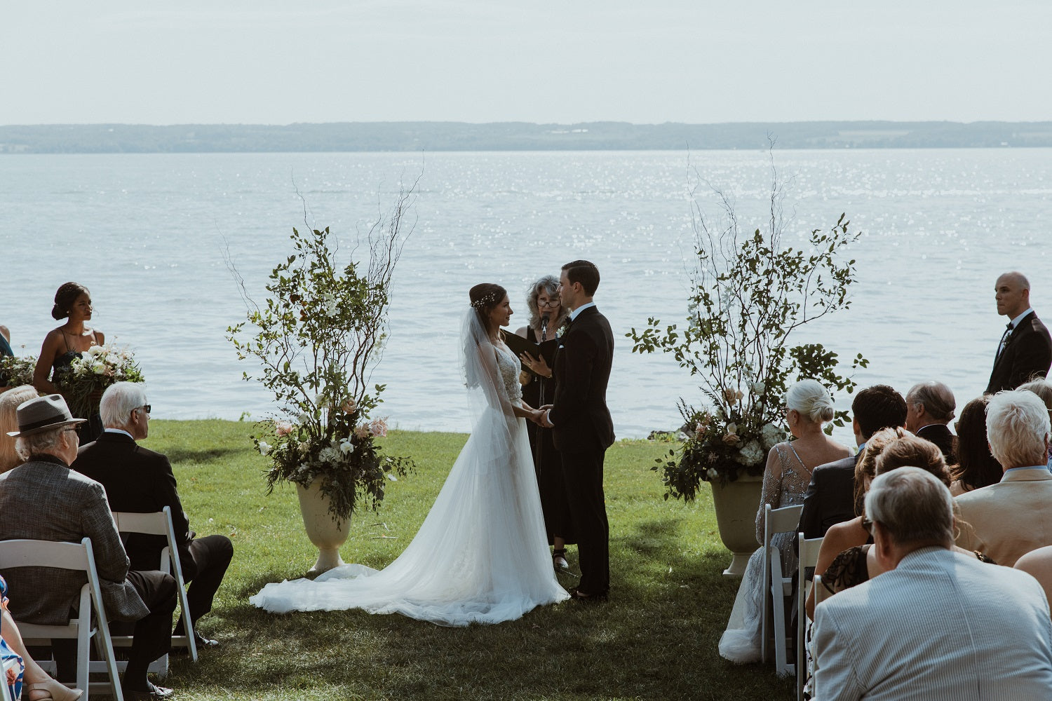 Inns of aurora water front ceremony
