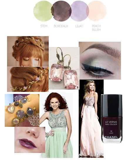 Pastel Palette | Color Story | Prom Inspiration Board