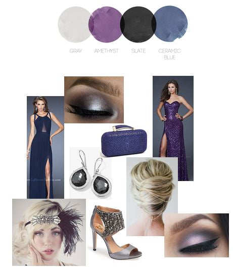 Plum & Navy | Color Story | Prom Inspiration Board