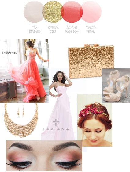 Pink Glitter | Color Story | Prom Inspiration Board