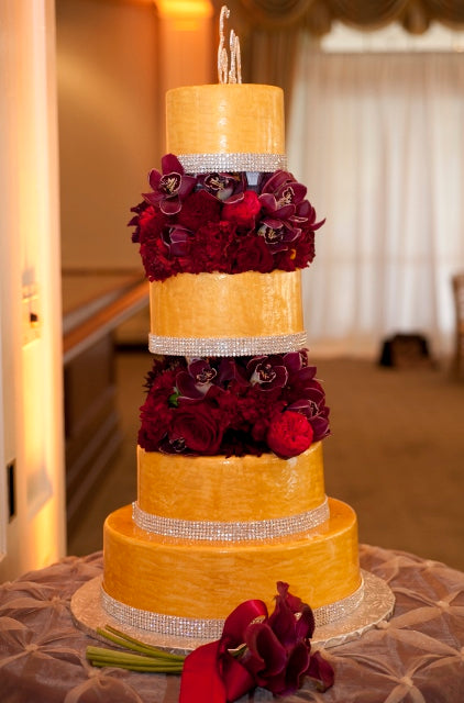 Wedding cake by Premier Pastry | flowers by Stacy K Floral | pictures by Redstone Studios | specialty rentals by Simply Beautiful Events | Ceremony at Chapel Hill, Rochester NY | Reception at Monroe Golf Club