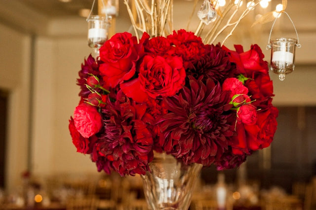 Red and gold wedding Monroe golf club (29)