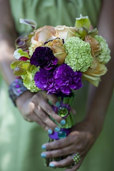 Rochester NY Florist, green and purple carnation bouquet, Tammy Swales Photography, Artisan Works, University of Rochester Interfaith Chapel