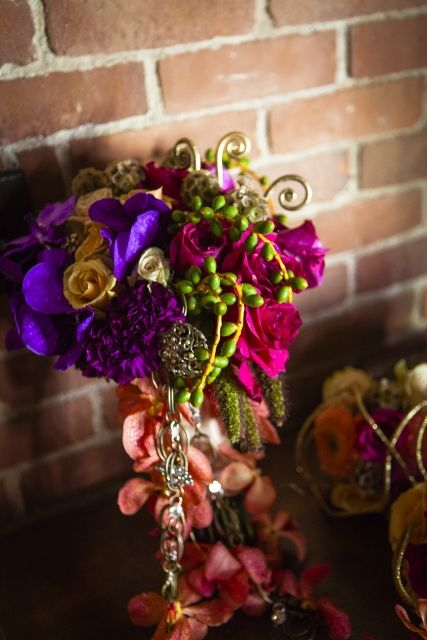 Unique bouquet with carnations, jewel tone wedding, colgate divinity school, rochester ny, Kracke Photography