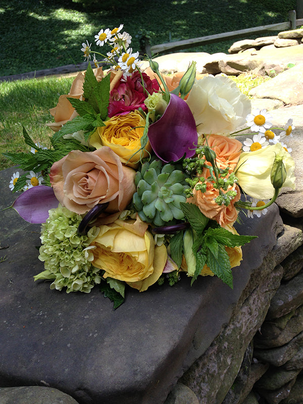 Summer Wedding Flowers at the Monroe Golf Club 16