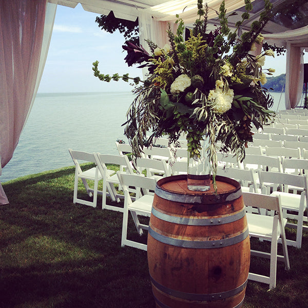 Summer Wedding Flowers at the Monroe Golf Club 25