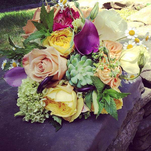Summer Wedding Flowers at the Monroe Golf Club 27