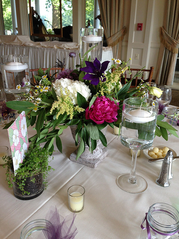 Summer Wedding Flowers at the Monroe Golf Club 32