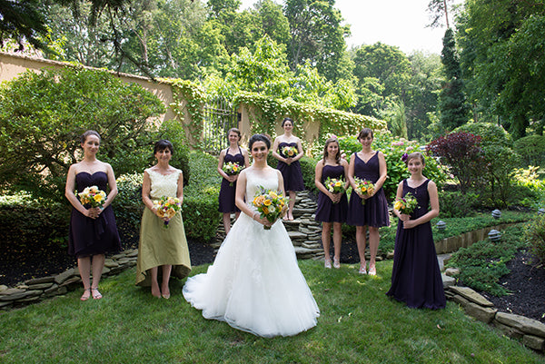 Summer Wedding Flowers at the Monroe Golf Club 4