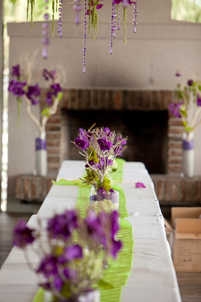 orchid centerpiece head table