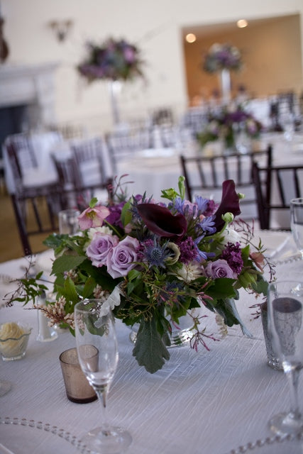 Lavender and Blue Wedding | Floral by Stacy K Floral | venue at Esperanza Mansion | pictures by Tammy Swales Photography | Specialty rentals by Simply Beautiful Events
