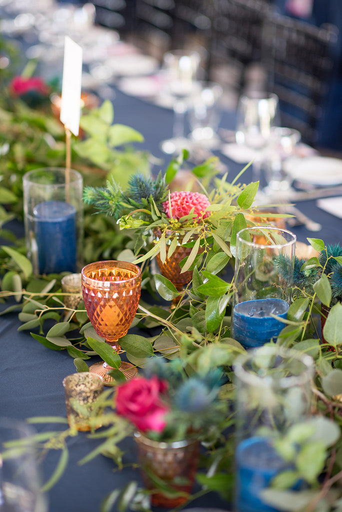 long centerpiece for head table colorful