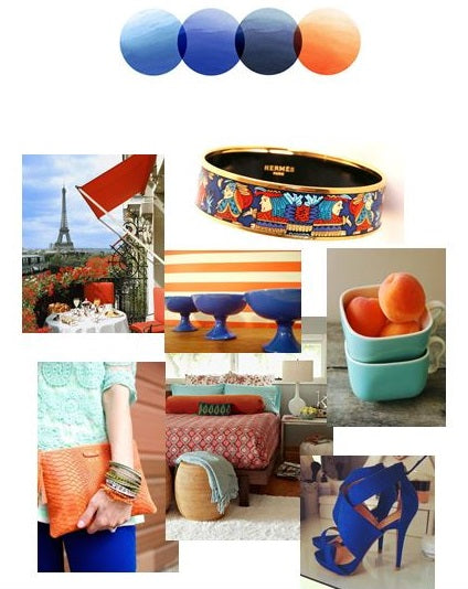 Blue and Orange | Color Story | Palette Inspiration Board | Stacy K Floral