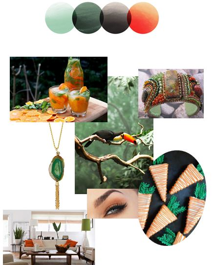 Tropical Tones | Color Story | Palette Inspiration Board | Stacy K Floral