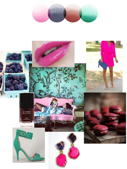 Bright Jewel Tones | Color Story | Palette Inspiration Board | Stacy K Floral
