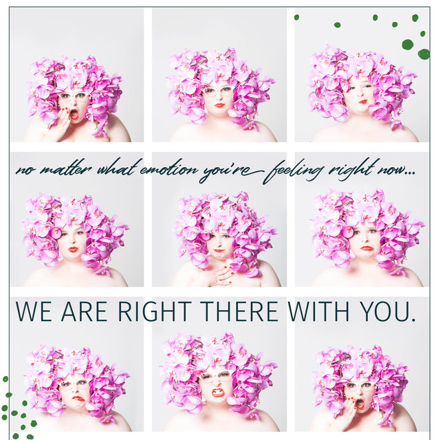 No matter what emotion you are feeling right now we are right there with you. Images of flower covered hair