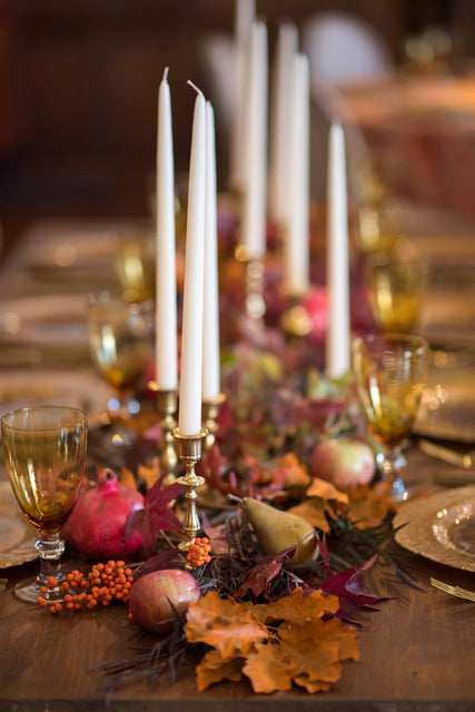 Fall inspired farm table centerpiece