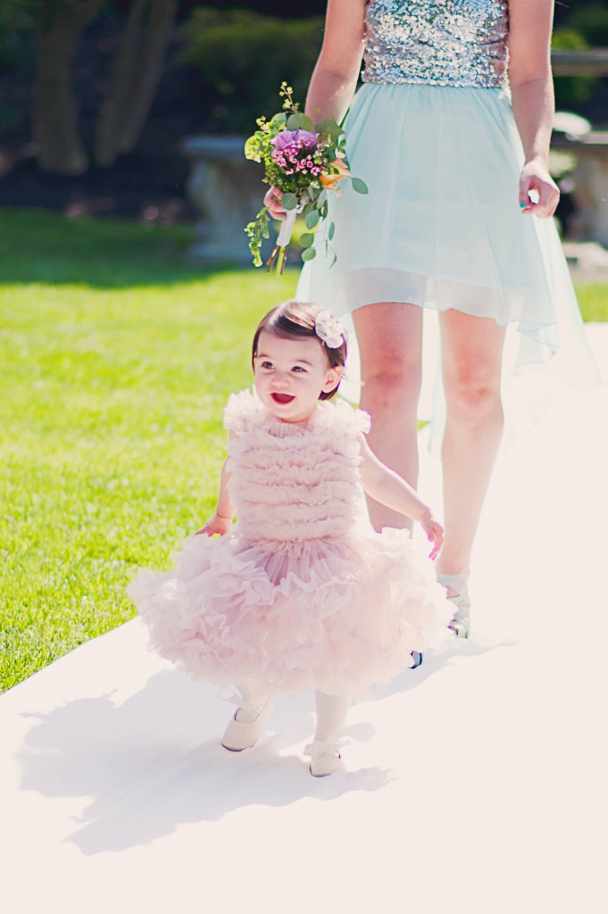 Flower Girl for a Spring Wedding | flowers by Stacy K Floral | pictures by Jovial Photography | Belhurst Castle in Geneva, NY | Outdoor Wedding | Spring Wedding Flowers