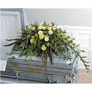 Green Casket Spray