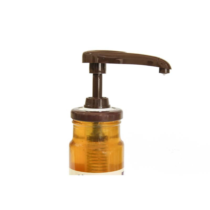 This no-drip honey pump is a clean, easy way to dispense honey.