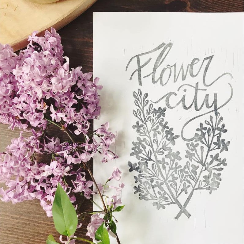 Flower City Lilacs Print - STACY K FLORAL