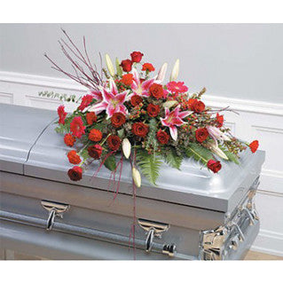 Lily and Rose Casket