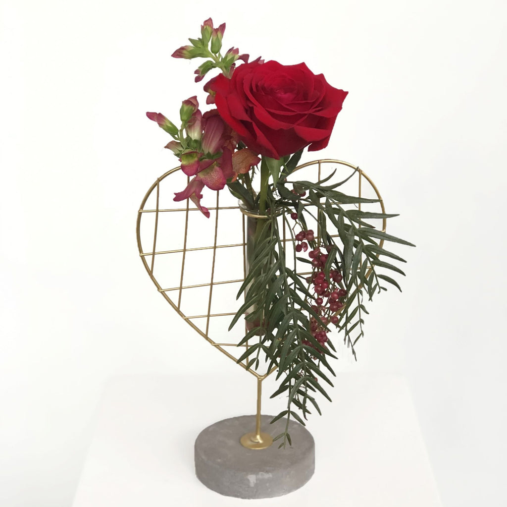 Love Heart Stand Arrangement - STACY K FLORAL