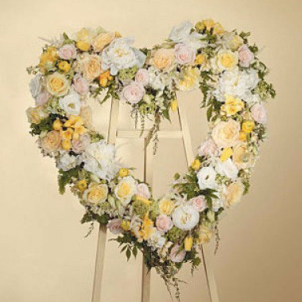 Pastel Heart Wreath - STACY K FLORAL