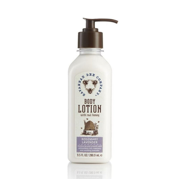 Savannah Bee Body Lotion Rosemary Lavender - A combination of invigorating rosemary and calming lavender essential oils.