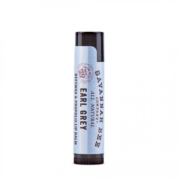 Savannah Bee's lip balm contains a nourishing blend of organic beeswax, honey, propolis, coconut oil, and royal jelly.
