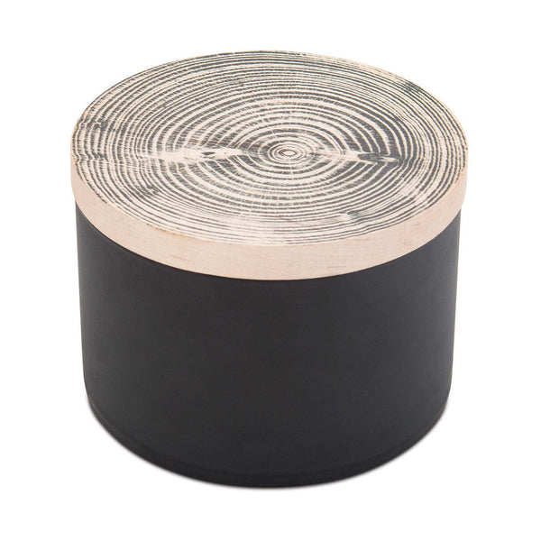 Skeem Black Wood Top Candle - STACY K FLORAL