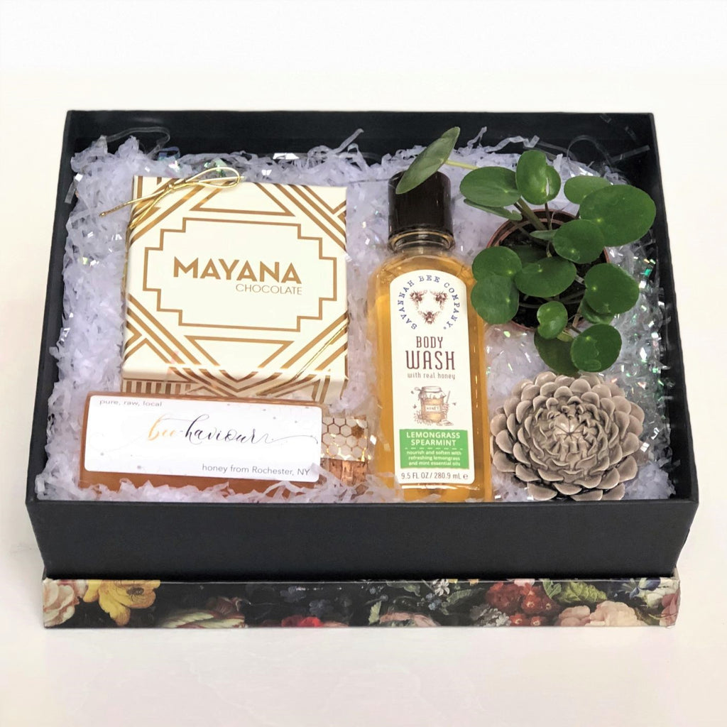 Special Treat Gift Box with Houseplant - STACY K FLORAL