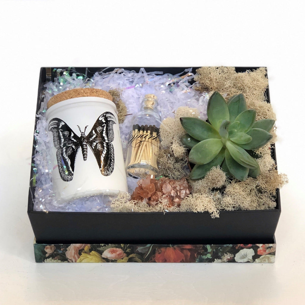 Succulent and Candle Gift Box - STACY K FLORAL
