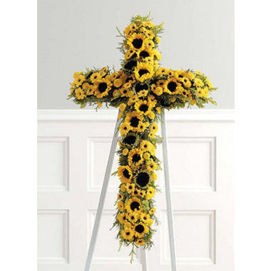 Sunflower Cross - STACY K FLORAL
