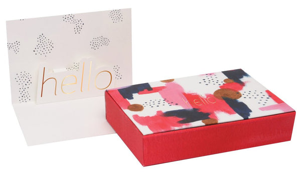 Pop Up Card Watercolor Hello Boxed Set