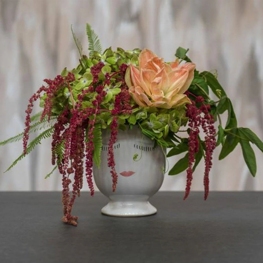 Hydrangea and Amaranthus Celfie Vase - STACY K FLORAL